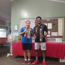 Mixed Doubles Competitive - Winners Ashok & Qi Ling
