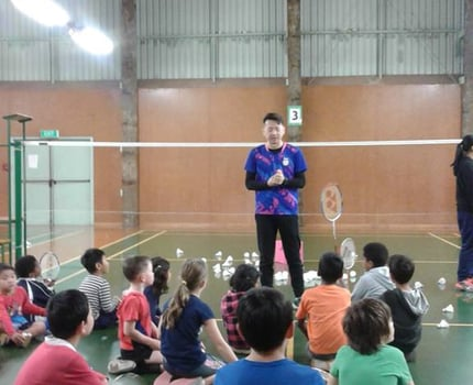 Junior Open Day - great to see so many kids learning to play badminton.