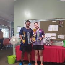 Mixed Doubles Social Winners  Jeeraj & Karen