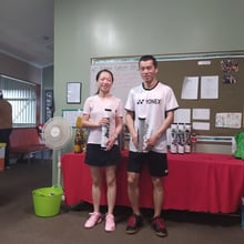 Mixed Doubles Social - Runners Up Colin & Li